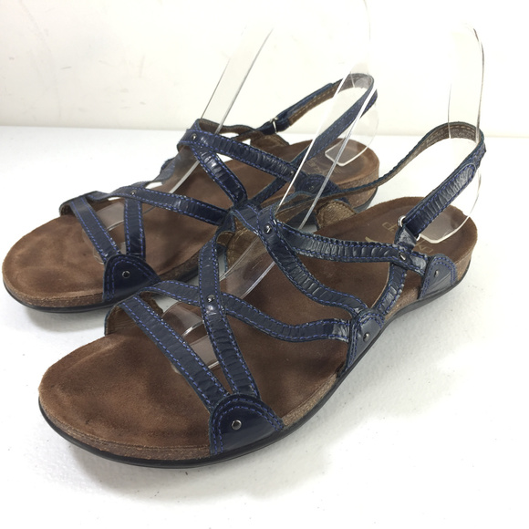 Blue Strappy Sandals Comfort | Poshmark
